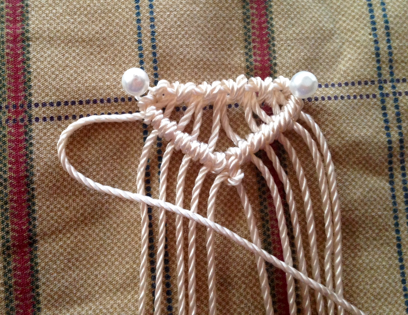 macrame clear edge method