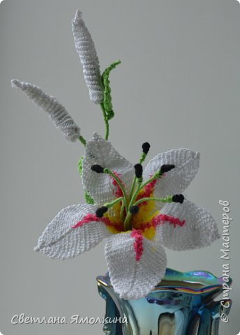 macrame lily flower