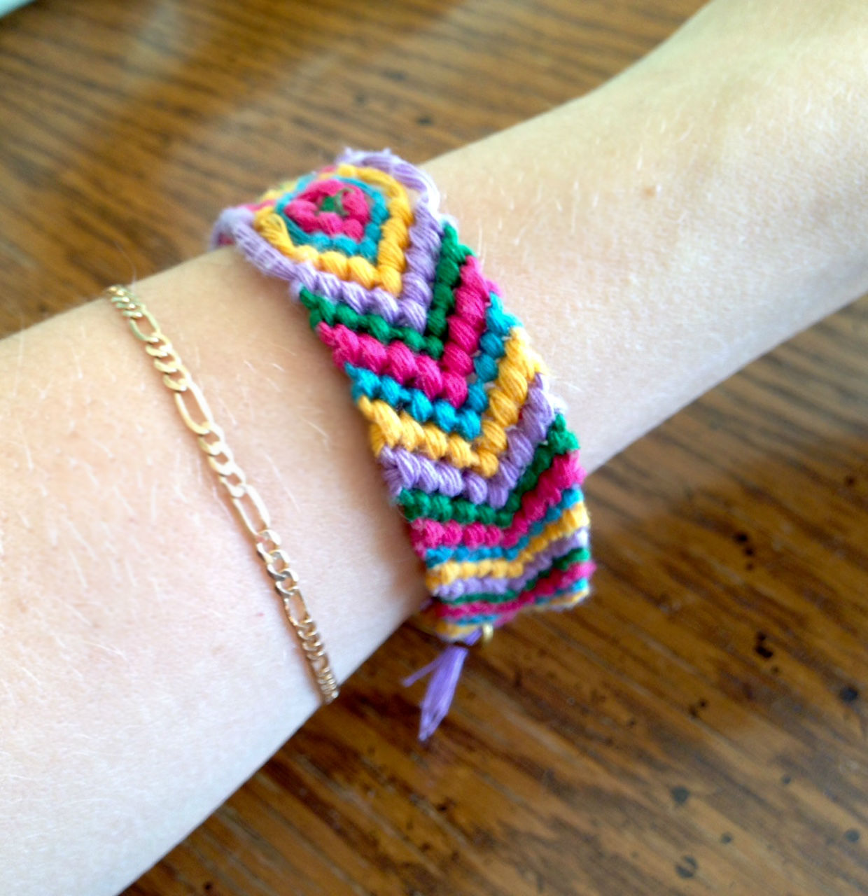 macrame friendship bracelet multi-color