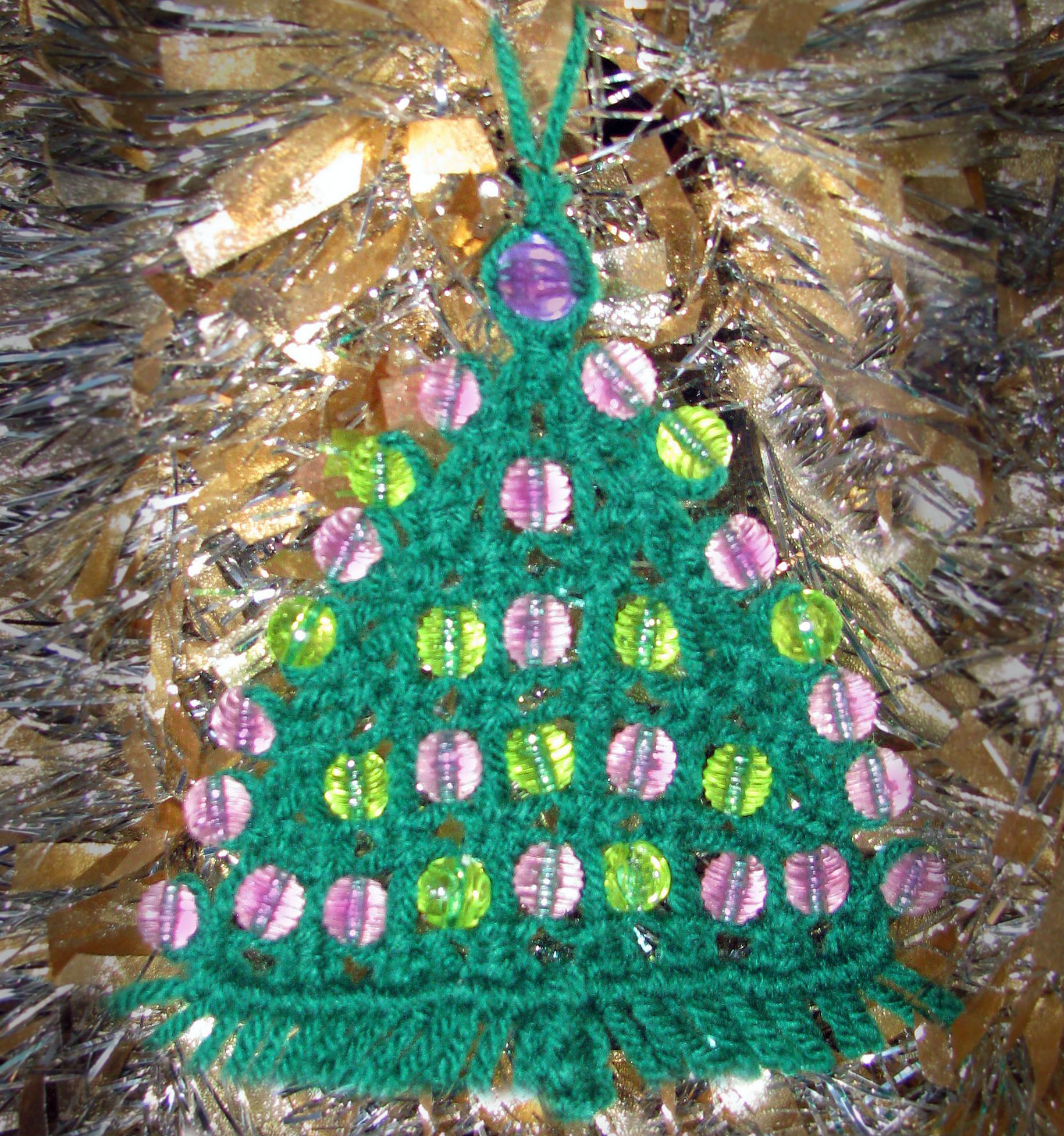 Macrame Christmas Tree Ornament Wall Hanger