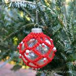 Macrame Christmas Ornament tutorial
