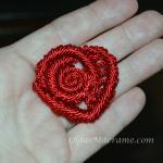 Macrame Heart / Rose