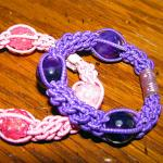 Macrame Hair Elastic / Stretch Bracelet