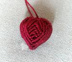 Macrame Heart Pendant / Key Chain
