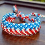 Macrame Patriotic Friendship Bracelet