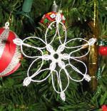 Macrame Snowflake Christmas Ornament