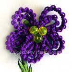 Macrame Flower Violet