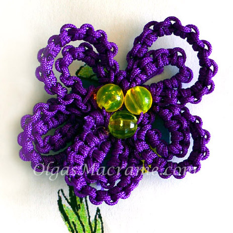 macrame flower tutorial