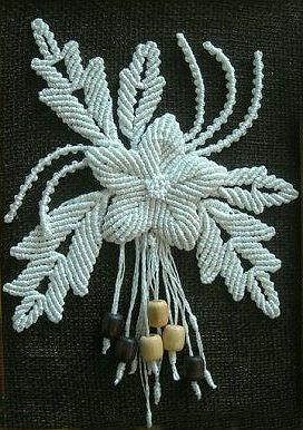 Macrame Flower Pendant