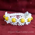 Macrame Flower Bracelet Elastic