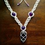 Macrame Gemstone Necklace
