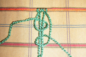 macrame loop knots braid two colored
