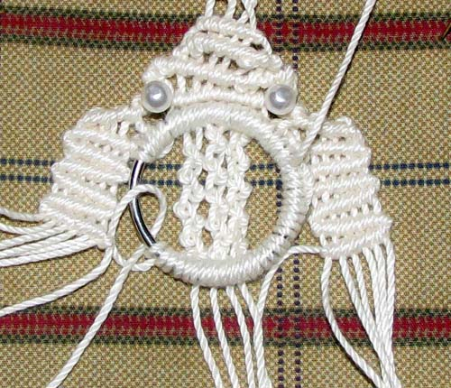 macrame pendant instructions