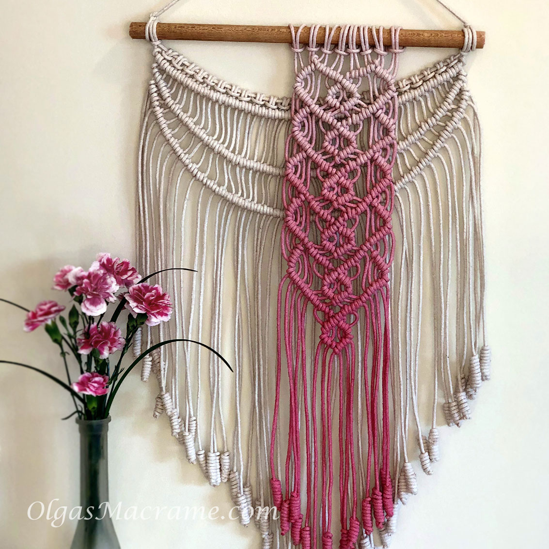 macrame wallhanging hearts